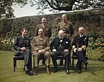 The Prime Minister, the Rt Hon Winston Churchill, With His Chiefs of Staff in the Garden of No 10 Downing Street, London, 7 May 1945 TR2839.jpg