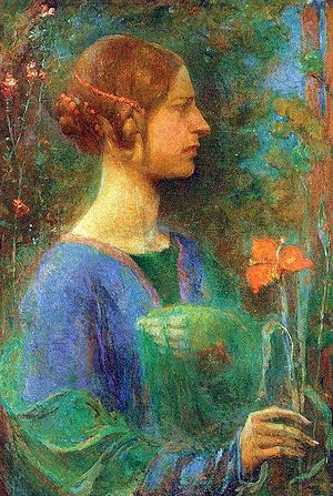 Clara Weaver Parrish - The Red Lily, oil on canvas by Parrish circa 1914.