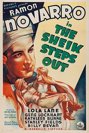 The Sheik Steps Out - Theatrical release poster