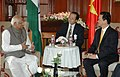 The Speaker, Lok Sabha, Shri Somnath Chatterjee meeting with the Prime Minister of Socialist Republic of Vietnam, Mr. Nguyen Tan Dung, in New Delhi on July 06, 2007.jpg