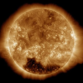 Heliosphere - Earth's Sun as seen at a wavelength of 19.3 nanometers (ultraviolet)
