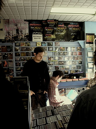 The Twilight Sad - James Graham and former bassist Craig Orzel at Avalanche Records, June 2008.
