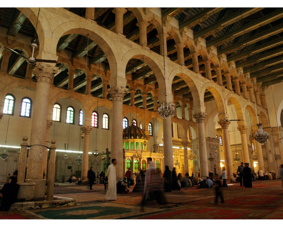 The Ummayad Mosque also known as the Grand Mosque of Damascus