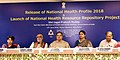 The Union Minister for Health & Family Welfare, Shri J.P. Nadda at the release of the National Health Profile (NHP) 2018 and launch of the National Health Resource Repository (NHRR), in New Delhi.JPG