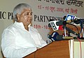 The Union Minister for Railways Shri Lalu Prasad addressing at the inauguration of the Public-Private Partnership Convention on Indian Railways, in New Delhi on June 15, 2006.jpg