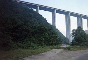Hemus motorway - Image: The Viaduct at Vitinya Pass (Bulgarian Витиня)