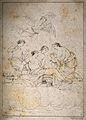 The birth of Cupid from Venus, Mercury flies above them and Wellcome V0014975.jpg