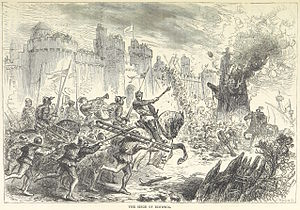 Capture of Berwick (1318) - An 1873 drawing of the siege