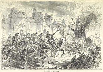 Siege of Berwick (1318) - An 1873 drawing of the siege