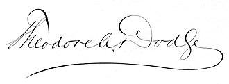 Theodore Ayrault Dodge - Image: Theodore Ayrault Dodge 1842–1909 signature