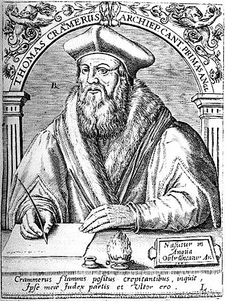 Thirty-nine Articles - Thomas Cranmer headed the committee that authored the Bishop's Book.