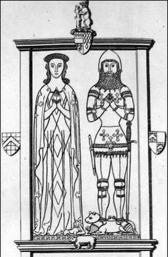 Thomas de Beauchamp, 12th Earl of Warwick - Monumental effigies of Thomas de Beauchamp, 12th Earl of Warwick, and his wife
