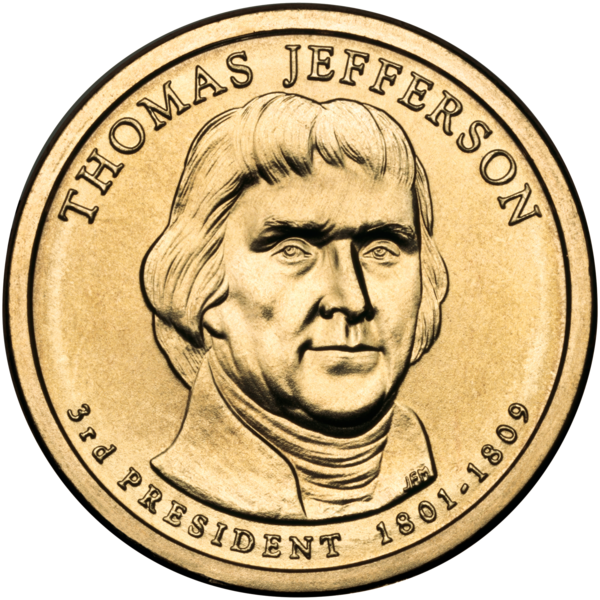 File:Thomas Jefferson Presidential $1 Coin obverse.png