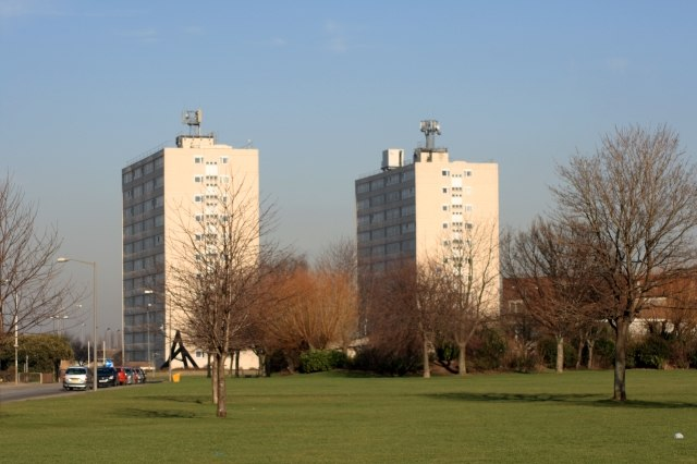 Thornaby Tower Blocks - geograph.org.uk - 688369