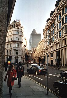 Threadneedle Street street in the City of London, London, England