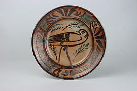 Thrown plate by Seth Cardew (YORYM-2004.1.897).JPG