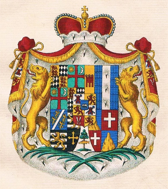 Coat of arms of the Princes of Thurn and Taxis Thurn-und-Taxis-Wappen.png