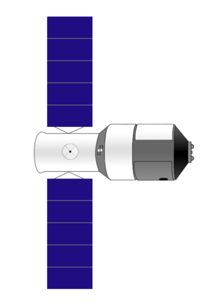Tiangong program - Diagram of Tiangong-1