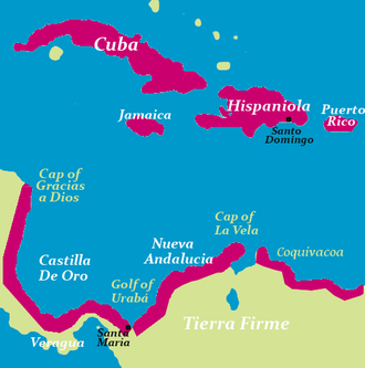 Governorates of the Spanish Empire - Tierra Firme, Governorate of Castilla de Oro and New Andalucia (Mainland of Colombia)