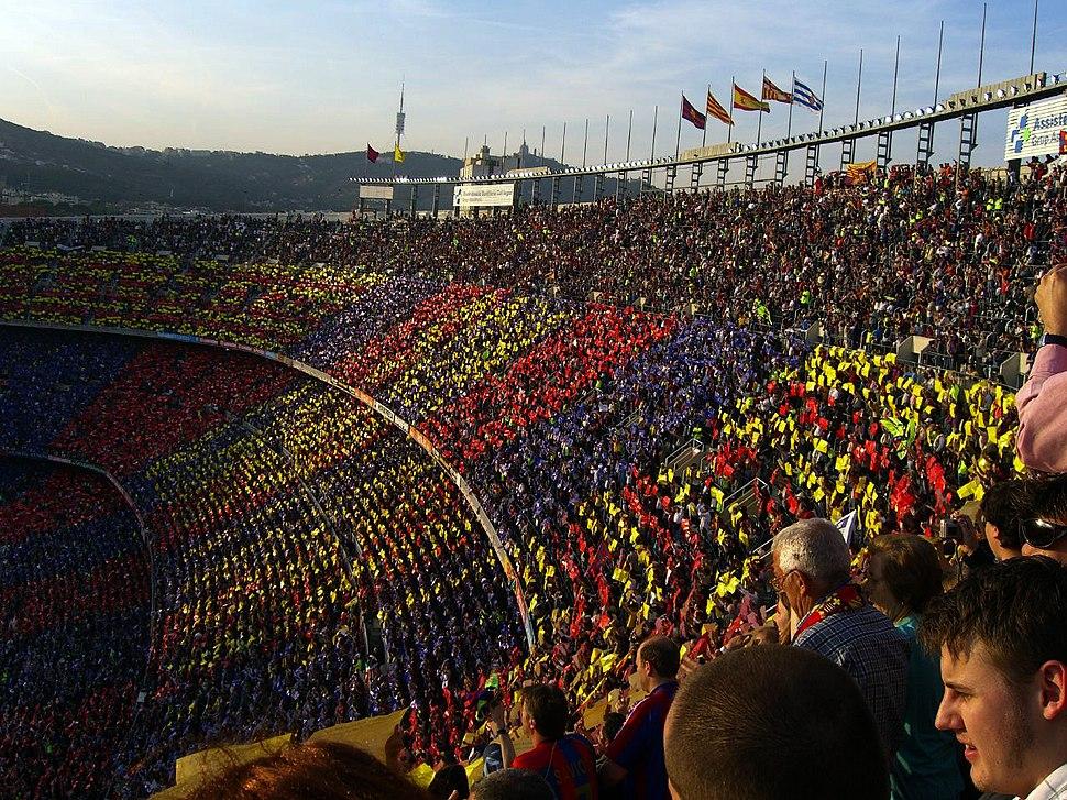 Tifo at Camp Nou