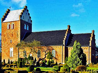 Tikøb Town in Capital (Hovedstaden), Denmark