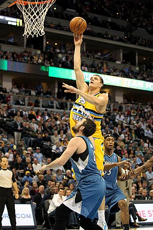 Timofey Mozgov - Mozgov in a game as a member of the Denver Nuggets