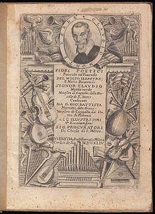 Titelblatt 'Fiori poetici' 1644. Portrait gilt als das einzige authentische Bildnis (Quelle: Wikimedia)