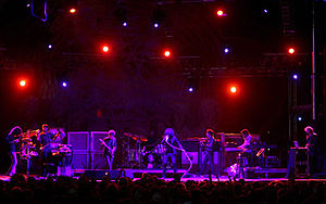 The Mars Volta on stage at the Vegoose Festival.