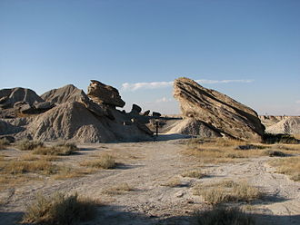 Badlands - Toadstool Geologic Park in northwestern Nebraska