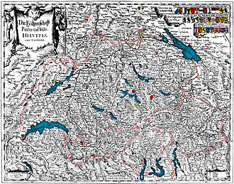 Cartography of Switzerland - Image: Topographia farbig