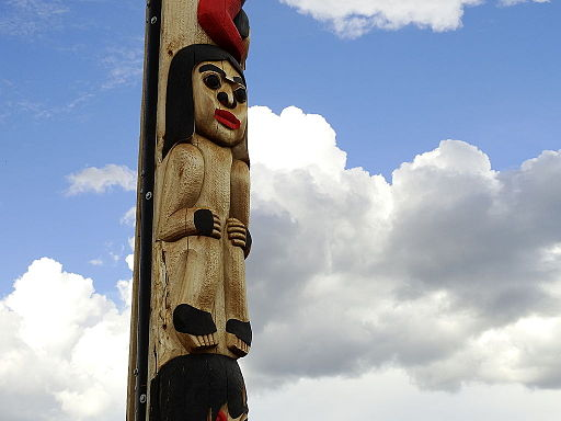Totem Pole and Clouds - Whitehorse - Yukon Territory - Canada