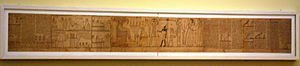 Book of the Dead of Nehem-es-Rataui - Full view of the surviving papyrus