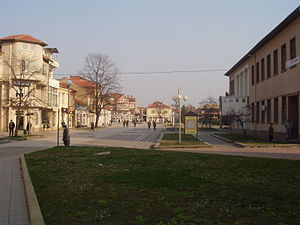 Lom (town) - Image: Town centre of Lom