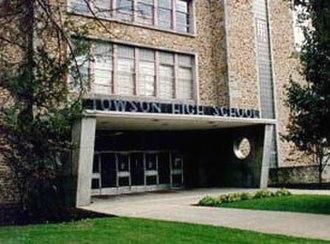 Towson High School - Cedar Avenue entrance