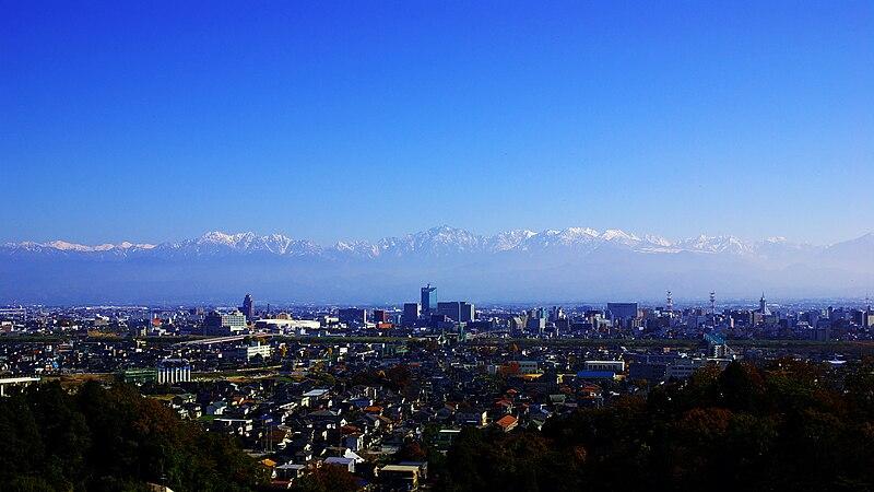 File:Toyama city & Alps.jpg