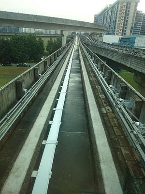 Track (rail transport) - Track of Singapore LRT