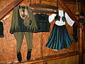 Traditional costumes on display, in Stenjevac.jpg