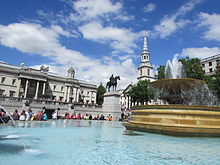 Fountain at Trafalgar Square, 2014