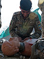Training trainers, Afghan police lifesavers practice medical skills to teach to comrades 131022-Z-SW098-312.jpg
