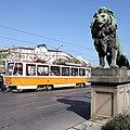 Trams in Sofia at Lion's Bridge 14.JPG