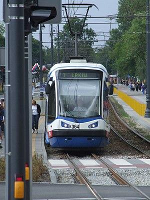 Trams in Bydgoszcz - Tram PESA 122N in Bydgoszcz