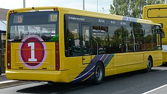 Optare Tempo - Rear of a Tempo, operated by Transdev Yellow Buses in Bournemouth.