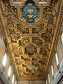 Trastevere - san Crisogono - soffitto a lacunari con stemma Borghese 01432.JPG