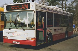 Travel Surrey - Plaxton Pointer bodied Dennis Dart with route 441 branding in April 2007