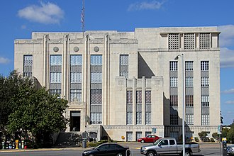 Travis County Courthouse - East facade in 2011
