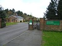 Trent Park Cemetery entrance.JPG