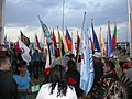 Tribal Flags at Eagle Butte, SD.JPG