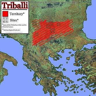 Triballi - Image: Triballi territory