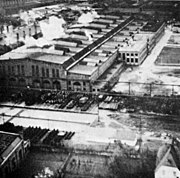 Trier railway yard under RAF attack 1943