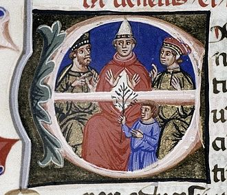 Pope Alexander III - Alexander III with Barbarossa and his wife